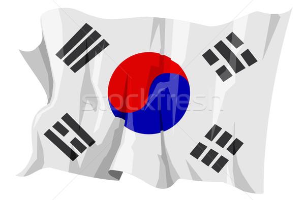 Flag series: South Korea Stock photo © fresh_7266481