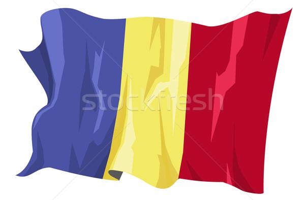 フラグ ルーマニア コンピュータ 生成された 実例 旅行 ストックフォト © fresh_7266481