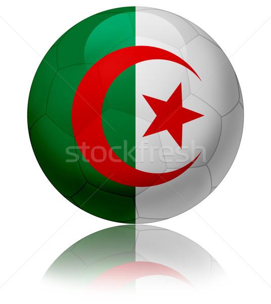 Argélia bandeira bola textura futebol Foto stock © fresh_7266481