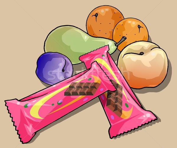 フルーツ チョコレート バー 実例 スポーツ バー ストックフォト © fresh_7266481
