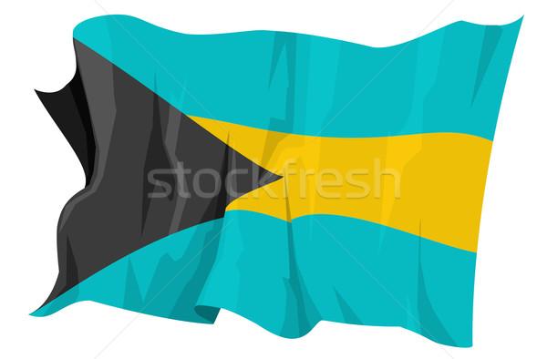 Bandeira Bahamas computador gerado ilustração viajar Foto stock © fresh_7266481