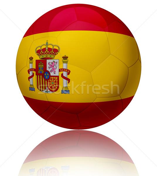 スペイン フラグ ボール テクスチャ サッカーボール ストックフォト © fresh_7266481