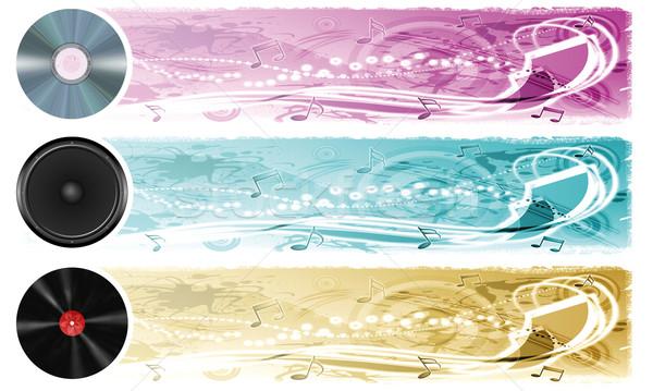 Music banners Stock photo © fresh_7266481