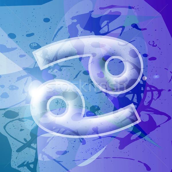 Zodyak kanser bilgisayar oluşturulan örnek işaretleri Stok fotoğraf © fresh_7266481