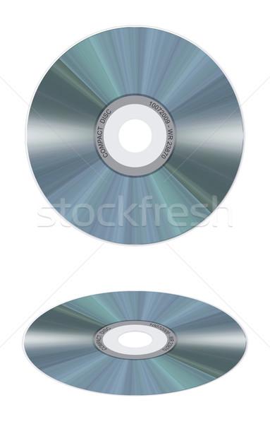Realista disco compacto branco ilustração isolado escritório Foto stock © fresh_7266481
