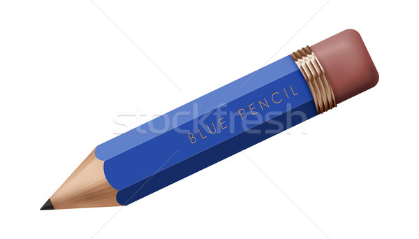 青 鉛筆 現実的な 実例 孤立した 白 ストックフォト © fresh_7266481