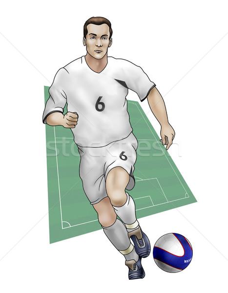 Csapat Új-Zéland valósághű illusztráció labdarúgó visel Stock fotó © fresh_7266481