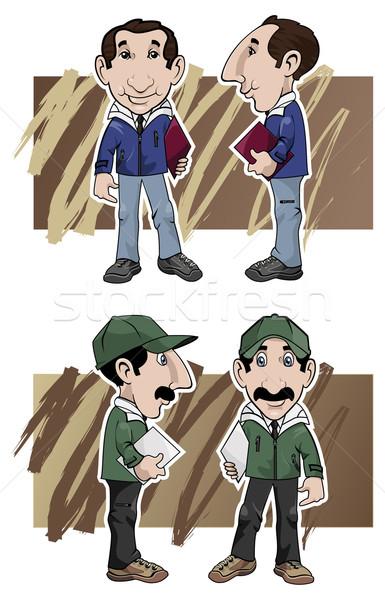 Karikatür örnek iki farklı yan Stok fotoğraf © fresh_7266481