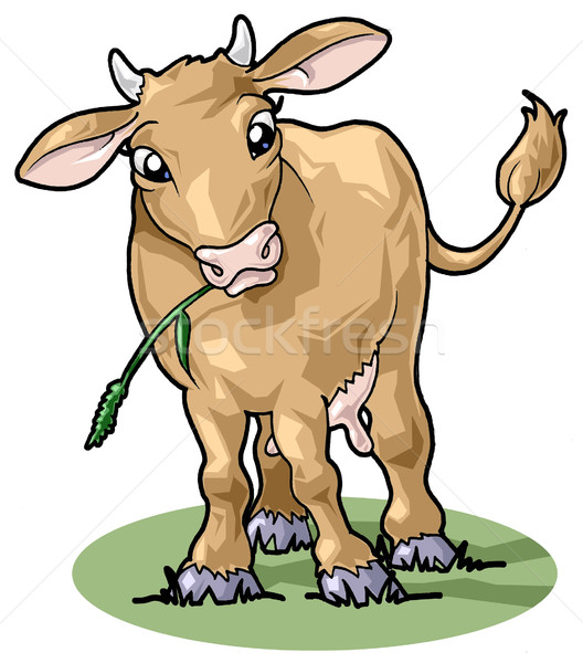 Cute smiling cow. Cartoon style Stock photo © fresh_7266481
