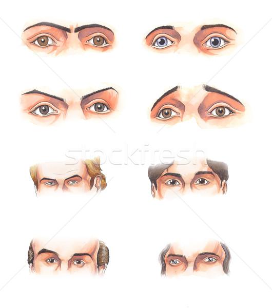 目 水彩画 実例 いくつかの 人間 ストックフォト © fresh_7266481
