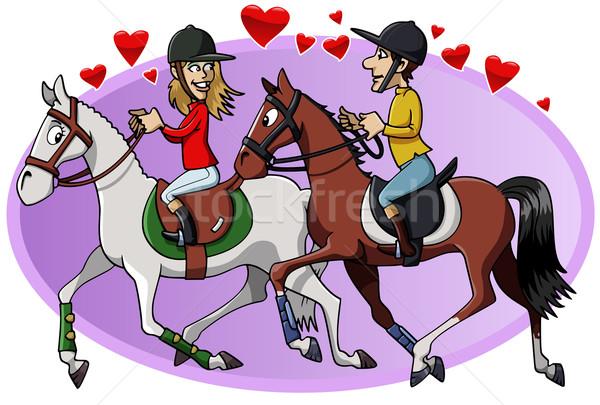Riders in love Stock photo © fresh_7266481