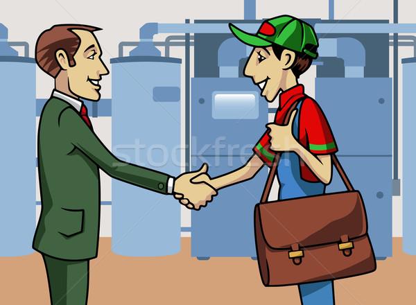 顧客 技術者 実例 握手 手 産業 ストックフォト © fresh_7266481