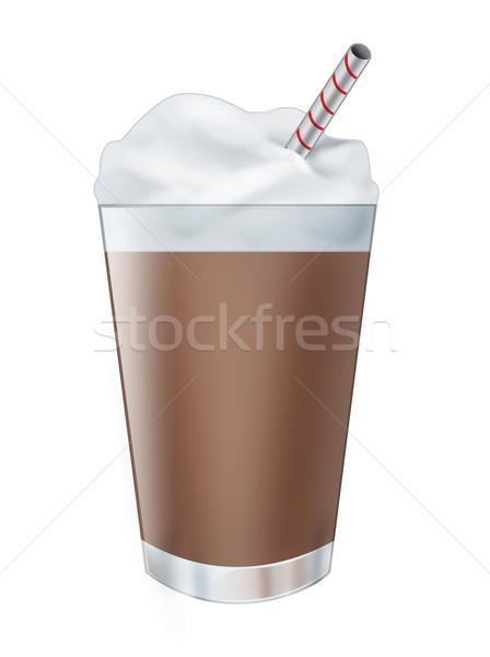 Chocolade milkshake drinken illustratie realistisch geïsoleerd Stockfoto © fresh_7266481