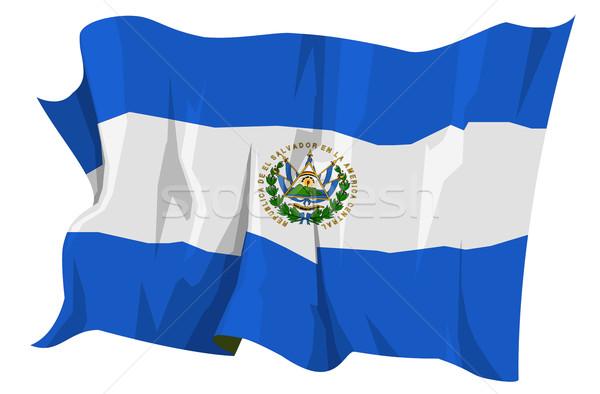 Flag series: El Salvador Stock photo © fresh_7266481