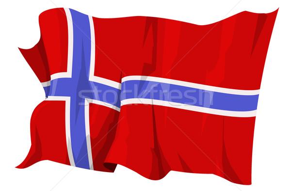 Bayrak Norveç bilgisayar oluşturulan örnek çapraz Stok fotoğraf © fresh_7266481