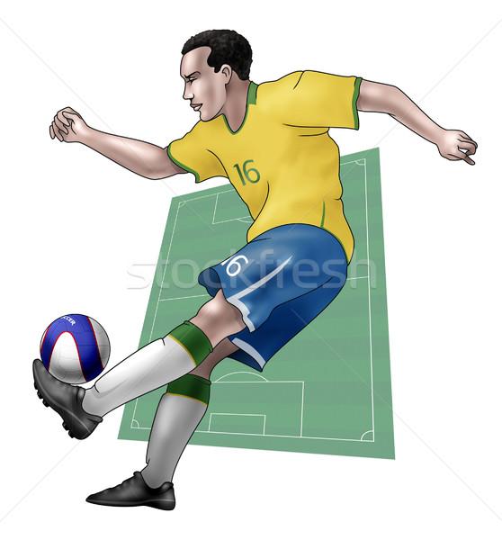 チーム ブラジル 現実的な 実例 着用 ストックフォト © fresh_7266481