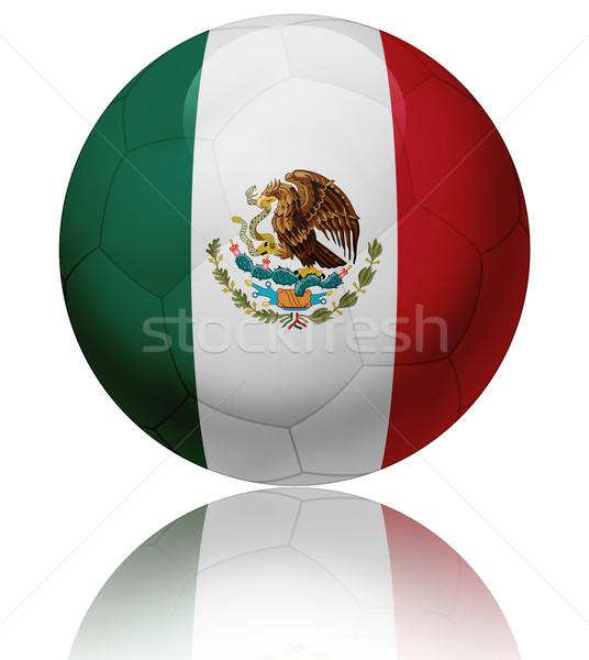 Meksika bayrak top doku parlak futbol topu Stok fotoğraf © fresh_7266481