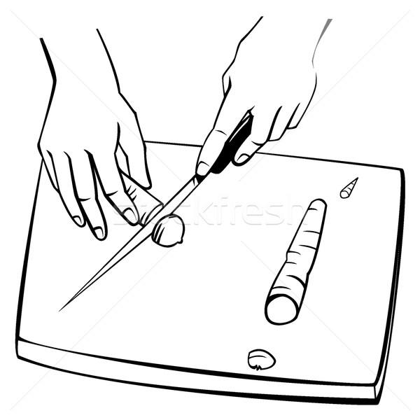 Wortelen twee handen zwart wit ontwerp Stockfoto © fresh_7266481