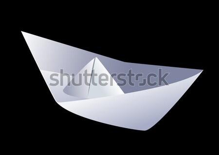 Kâğıt tekne siyah kolay gemi oyuncak Stok fotoğraf © fresh_7266481