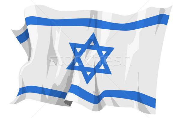 フラグ イスラエル コンピュータ 生成された 実例 青 ストックフォト © fresh_7266481