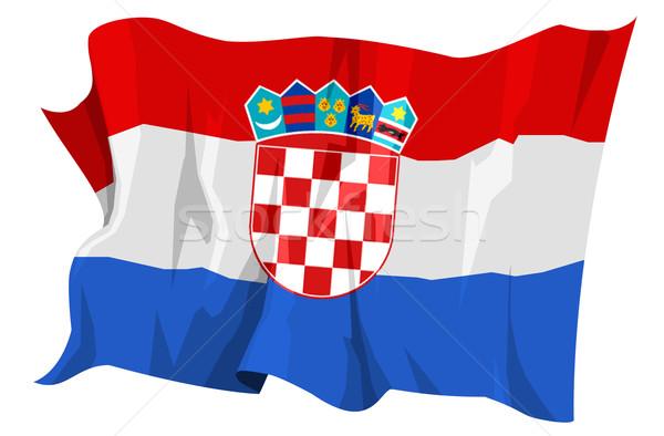 Bandera Croacia ordenador generado ilustración viaje Foto stock © fresh_7266481