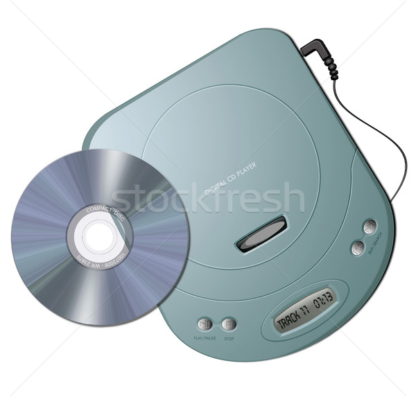 Portable CD player - Green Stock photo © fresh_7266481