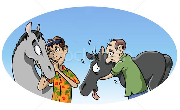 Harmonisch vs passie illustratie twee Stockfoto © fresh_7266481