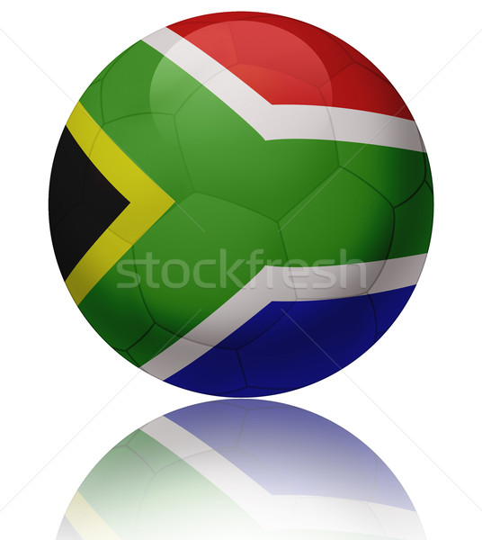 Dél-Afrika zászló labda textúra fényes futballabda Stock fotó © fresh_7266481