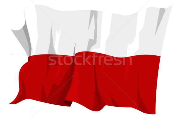 フラグ ポーランド コンピュータ 生成された 実例 旅行 ストックフォト © fresh_7266481