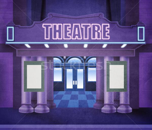 外 劇場 実例 夜景 ネオン ライト ストックフォト © fresh_7266481