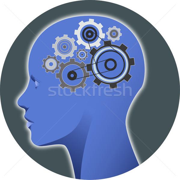 Psychologia umysł narzędzi ilustracja ludzi głowie Zdjęcia stock © fresh_7266481