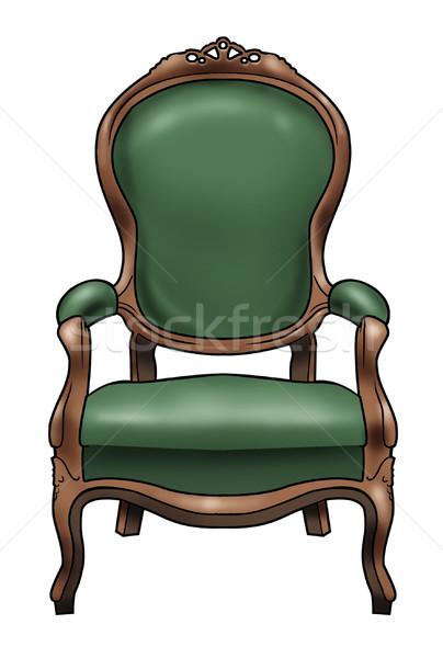 Victorian chair Stock photo © fresh_7266481