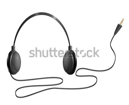Realistisch hoofdtelefoon illustratie geïsoleerd object witte Stockfoto © fresh_7266481