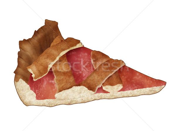 Vruchten taart illustratie realistisch geïsoleerd witte Stockfoto © fresh_7266481