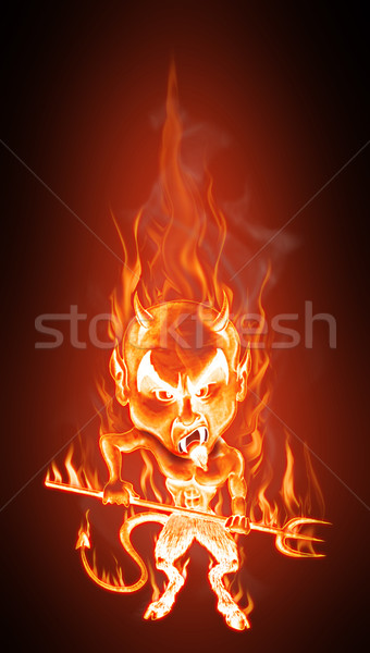 Devil in flames Stock photo © fresh_7266481