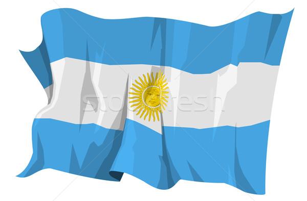 Pavillon Argentine ordinateur généré illustration soleil Photo stock © fresh_7266481