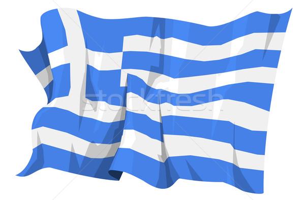 Flag series: Greece Stock photo © fresh_7266481