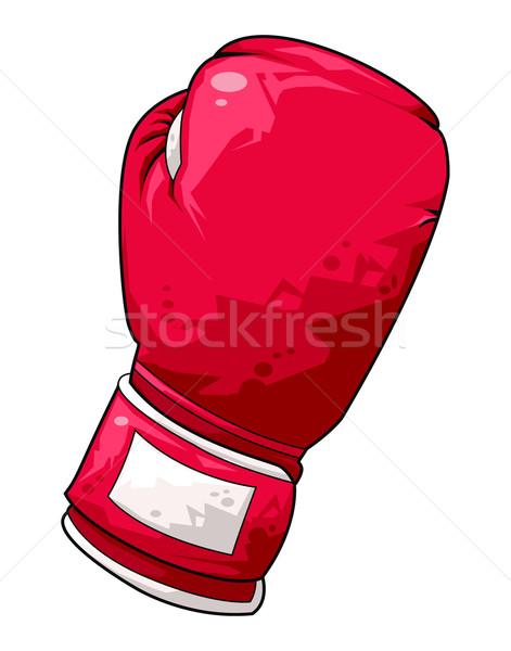 Rood kleurrijk artistiek illustratie hand Stockfoto © fresh_7266481