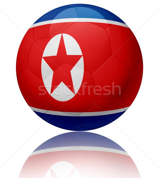 Noorden vlag bal textuur glanzend voetbal Stockfoto © fresh_7266481