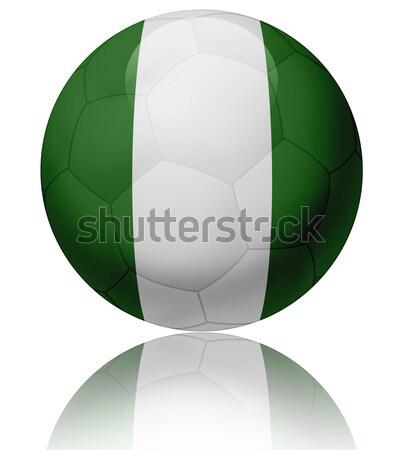Nijerya bayrak top doku parlak futbol topu Stok fotoğraf © fresh_7266481