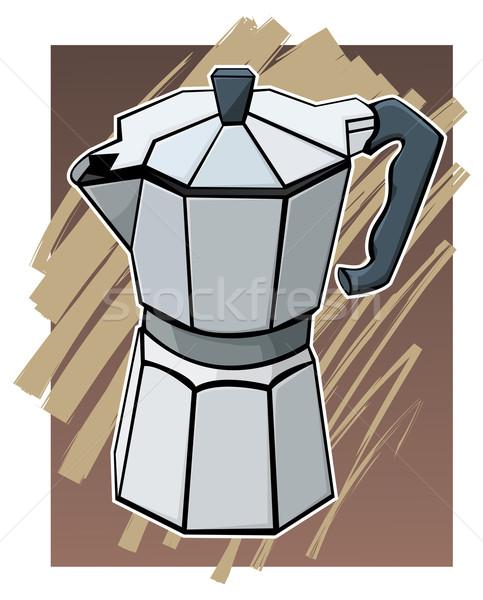 Cafea oală culoare ilustrare colorat bar Imagine de stoc © fresh_7266481