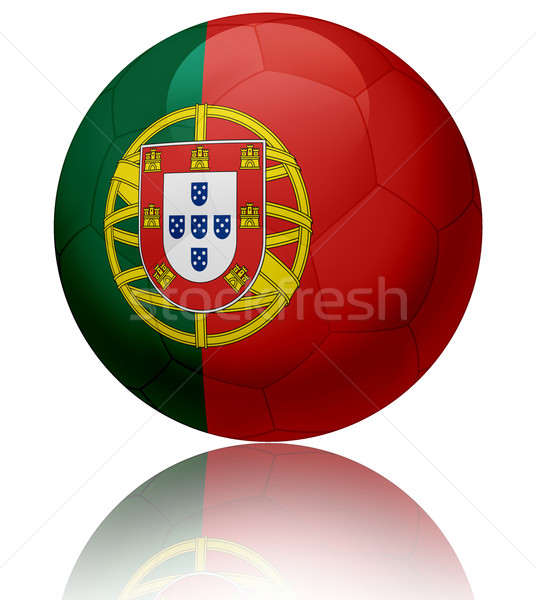 Portugal vlag bal textuur glanzend voetbal Stockfoto © fresh_7266481