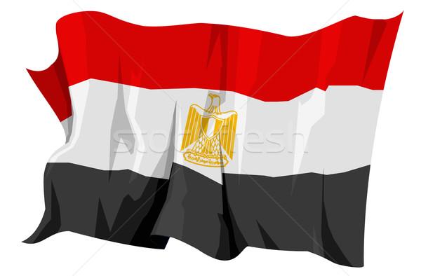 Zászló Egyiptom számítógép generált illusztráció utazás Stock fotó © fresh_7266481