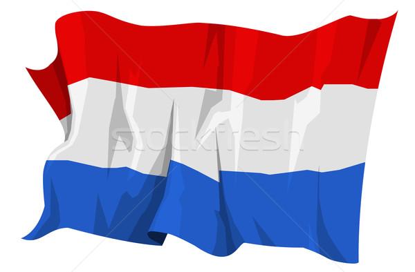 フラグ オランダ コンピュータ 生成された 実例 青 ストックフォト © fresh_7266481