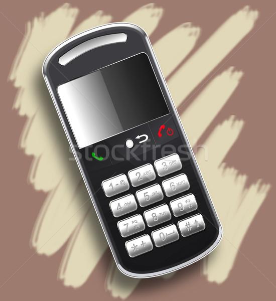 Realistisch mobiele telefoon computer gegenereerde illustratie object Stockfoto © fresh_7266481