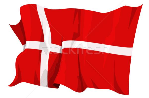 Vlag Denemarken computer gegenereerde illustratie kruis Stockfoto © fresh_7266481