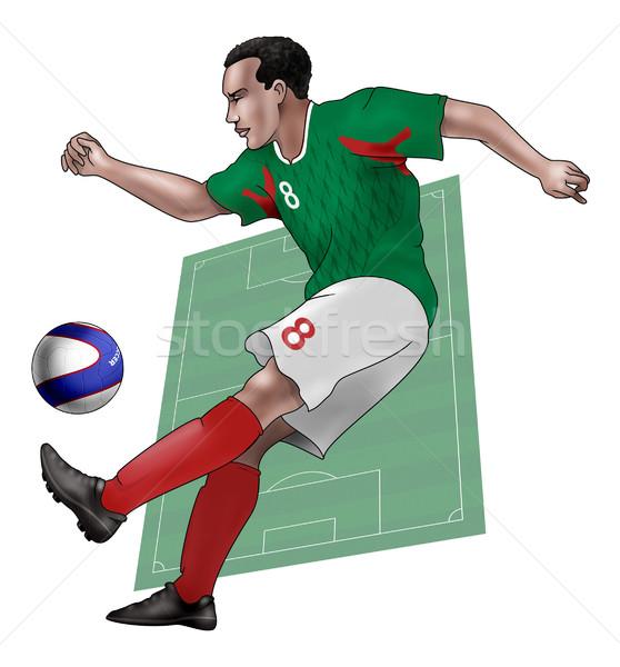 チーム メキシコ 現実的な 実例 着用 ストックフォト © fresh_7266481