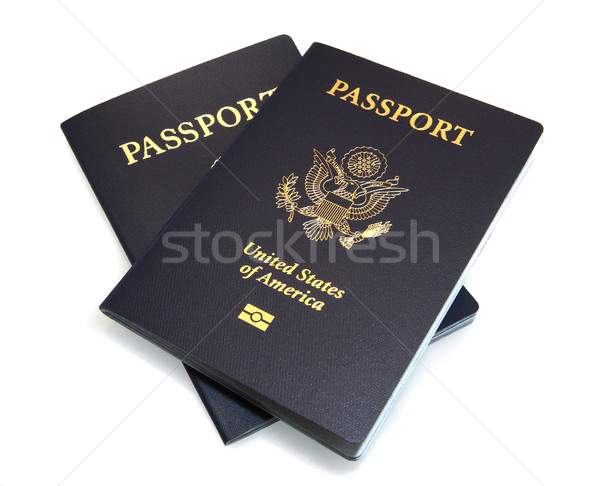 Two United States Passports isolated on White Stock photo © Freshdmedia