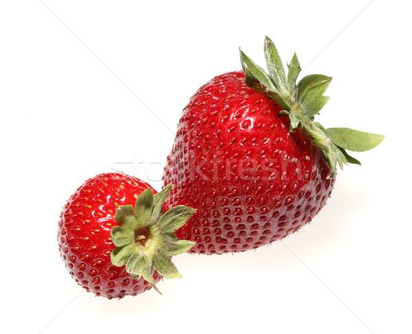 Deux fraises blanche isolé alimentaire manger Photo stock © Freshdmedia