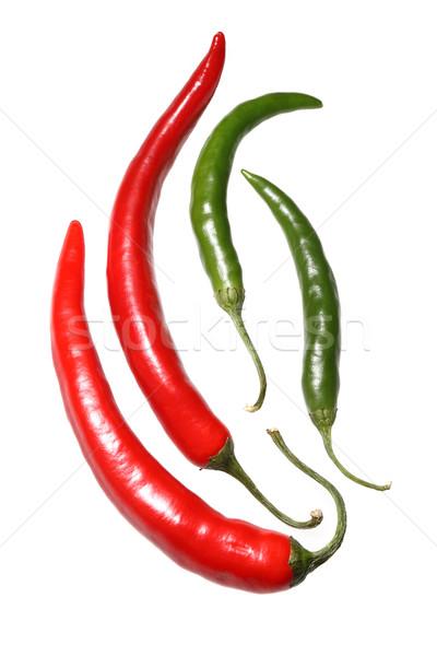 Rouge vert chaud blanche isolé Photo stock © Freshdmedia